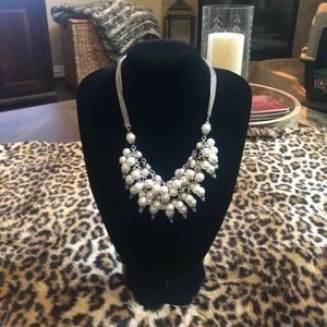Brighton Silver and Pearl Necklace